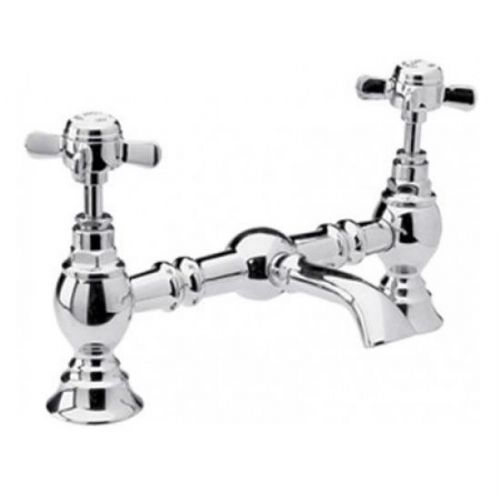 Eastbrook Beaumont Luxury Bridge Basin Mixer Tap - Chrome